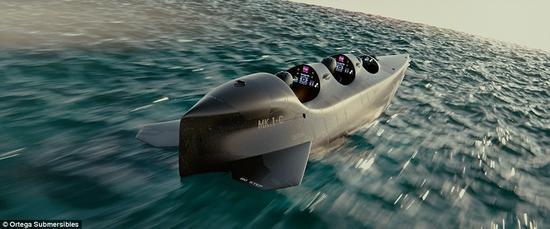 """世界最快""""个人潜艇"""",下潜百米仅需数秒"""