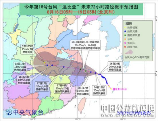 """""""温比亚""""将登陆华东沿海 """"贝碧嘉""""在北部湾再次加强"""