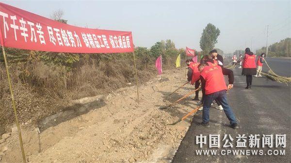 河南辉县:开展志愿服务 助力交通建设