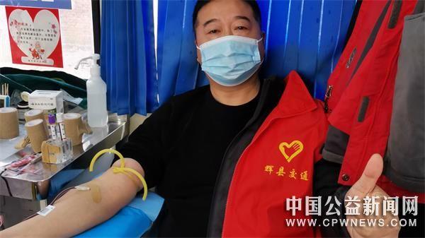 河南:辉县市交通志愿者为生命接力 大爱暖共城