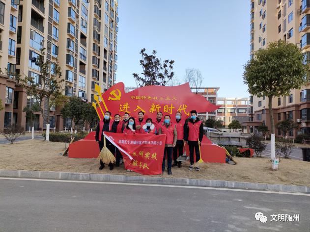 湖北随州:下沉社区在行动▎高新区十里铺社区组织下沉党员开展志愿服务活动